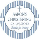 Personalised Boy Christening Sticker Design 6